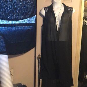 Torrid Sheer high low dress